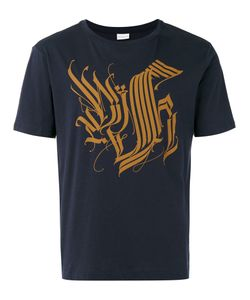 Dries Van Noten | Short Sleeve T-Shirt With Tattoo Calligraphy Detail