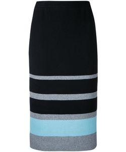 Loveless | Striped Knit Pencil Skirt