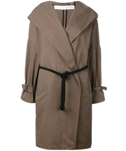 Isabel Benenato | Belted Hooded Coat