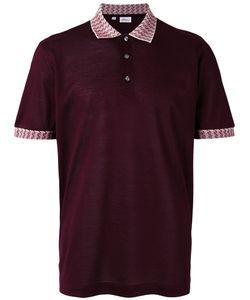 Brioni   Collar Detail Polo Shirt Size Medium