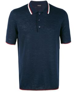 Kiton | Contrast Stripe Polo Shirt