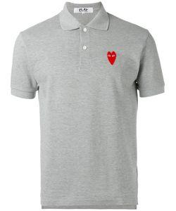 Comme Des Garçons Play   Elongated Heart Polo Shirt Size Xl