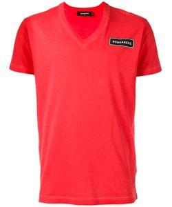 DSquared² | Chest Logo V-Neck T-Shirt Medium Cotton