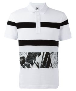 Les Hommes Urban | Striped Polo Shirt Size Small