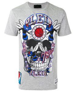 Philipp Plein | Embellished Skull Print T-Shirt Size Xl