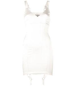 Murmur   Suspenders Applique Fitted Dress
