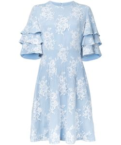 Huishan Zhang   Fitted Lace Overlay Dress
