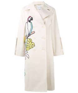 Mira Mikati | Parrot Applique Trench Coat