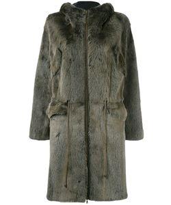 Liska   Hooded Drawstring Coat