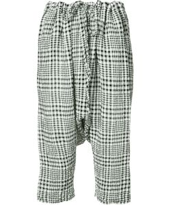 Forme D'expression | Gingham Drop-Crotch Cropped Trousers Women