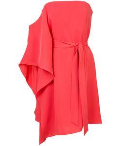Halston Heritage | Asymmetric Strapless Dress