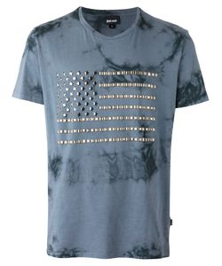 Just Cavalli | Studded Flag T-Shirt Size Small Cotton/Metal Other