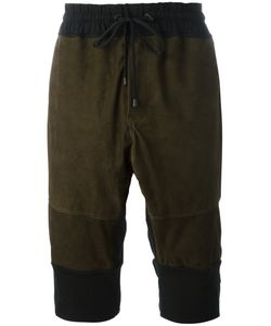 Di Liborio | Panelled Bermuda Shorts 48 Cotton/Suede/Spandex/Elastane