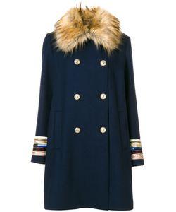 Bazar Deluxe | Faux Fur Collar Coat Women