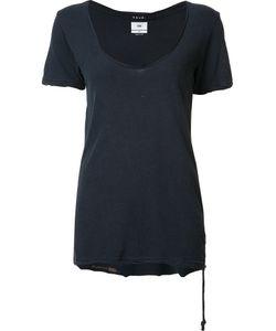 Ksubi   Scoop Neck T-Shirt Xs Cotton/Silk
