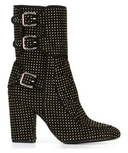 Laurence Dacade | Studded Texture Boots 38 Leather/Suede/Metal Other