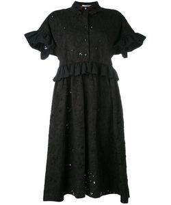 Vivetta   Embroidered Flared Sleeve Shirt Dress Women