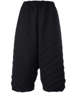 Issey Miyake Cauliflower   Cropped Ribbed Trousers