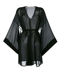 Isabel Benenato | Flared Sleeves Sheer Dress