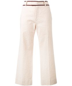 Jour/Né | Seersucker Cropped Trousers 34
