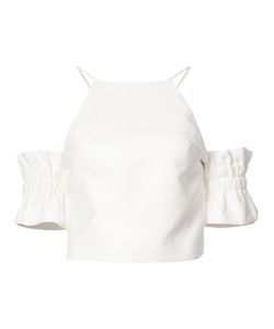 C/Meo | Ruffled Sleeves Halterneck Top