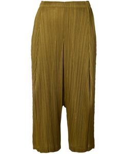 Pleats Please By Issey Miyake | Pleated Cropped Trousers Women