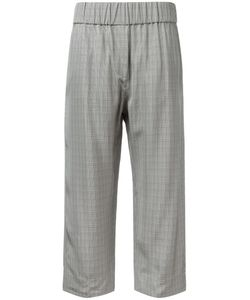 Alberto Biani   Checked Cropped Trousers Size 44