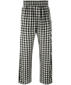 Off-White | Checked Loose-Fit Trousers Small