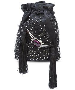 Khirma Eliazov   Khirma X Swarovski Embroidered Bucket Crossbody Bag