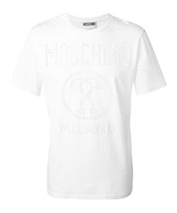 Moschino | Perforated Logo T-Shirt Large Cotton