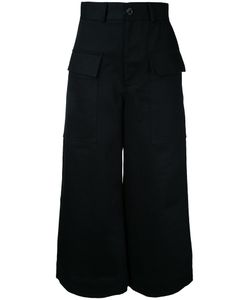 Studio Nicholson | Wide Leg Cropped Pants 0 Cotton