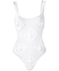 Amir Slama | Crochet Swimsuit Medium Elastodiene