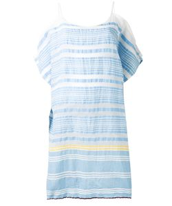 Lemlem   Striped Cold-Shoulder Dress L