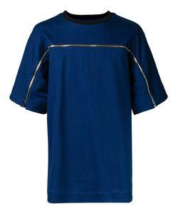 Juun.J   Zip Detail T-Shirt 46 Cotton/Polyester/Polyurethane