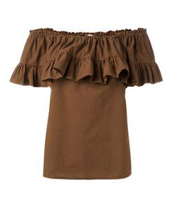 Hache | Gathe Off-Shoulder Blouse 42 Cotton/Spandex/Elastane