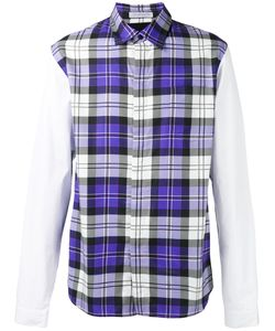 J.W.Anderson   Panelled Checked Shirt Size 50