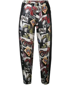 Hache   Printed Cropped Trousers Size 40