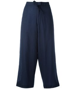 Y's   Cropped Wide-Leg Trousers Size 2