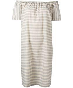 Steffen Schraut | Striped Off The Shoulder Dress Size 32