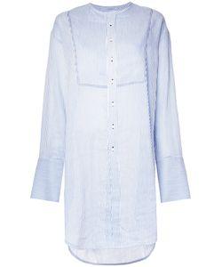 Bassike | Striped Longline Shirt 12 Silk/Cotton/Linen/Flax