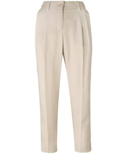 Blumarine   Front Pleat Cropped Trousers Size