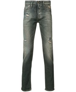 Denham | Distressed Slim-Fit Jeans 33/34 Cotton/Spandex/Elastane