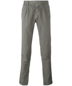 Incotex | Pleat Detail Tape Trousers 30 Cotton/Linen/Flax