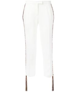 Marco de Vincenzo   Fringed-Side Tailored Trousers Size