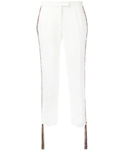 Marco de Vincenzo | Fringed-Side Tailored Trousers Women