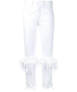 Preen by Thornton Bregazzi | Lace Ruffled Skinny Trousers Women
