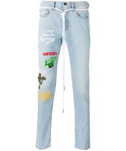 Off-White | Multiple Prints Skinny Jeans 34 Cotton/Spandex/Elastane/Polyester