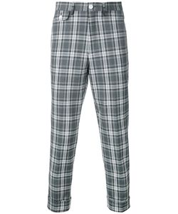 Education From Youngmachines | Cropped Checked Pants Men