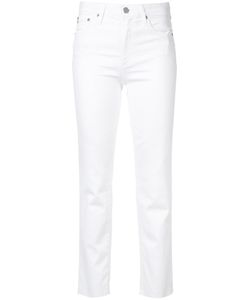 Ag Jeans | Isabelle High-Rise Straight Crop Jeans
