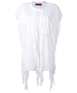 Di Liborio | Fringed T-Shirt 38 Cotton